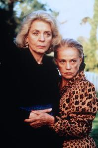 Lauren Bacall and Jeanne Moreau