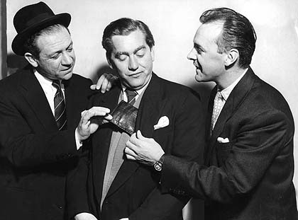 L-R - Sid James, Tony Hancock and Bill Kerr