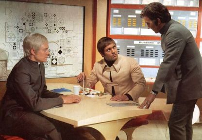 L-R Ed Straker (Ed Bishop), Paul Foster (Michael Billington) and Alec Freeman (George Sewell)