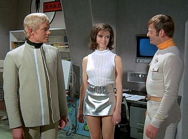 L-R - Straker (Ed Bishop), Ellis (Gabrielle Drake) and Kelly (Neil Hallett)
