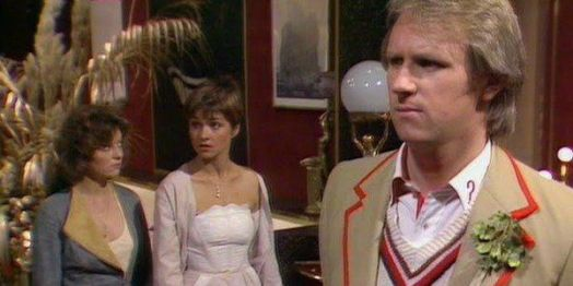 The Doctor, Nyssa and Tegan explore the strange ship